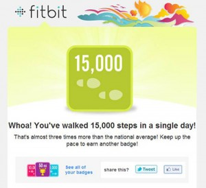 My FitBit has helped me push a little extra for exercise. And badges don't hurt, either!