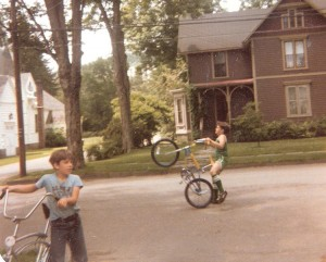 Though I know kids still ride bikes, it doesn't seem to be as much as when I was a kid.