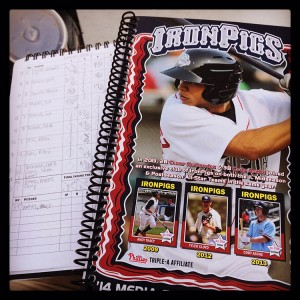 The IronPigs also sett their media guide, something I don't see a lot of minor league teams still doing.