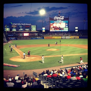 Coca-Cola Park is a great place to watch a game.