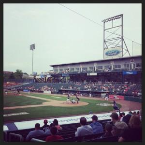 Northeast Delta Dental Stadium.