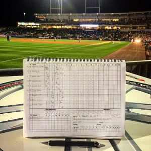 I still keep score each game (with my Eephus League Halfliner), so it's nice to see a lineup board.