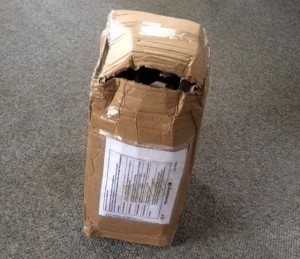 The package arrived in rough shape.